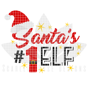 Christmas SVG, Santa's Number 1 Elf cut file