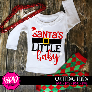 Santa's Little Baby SVG
