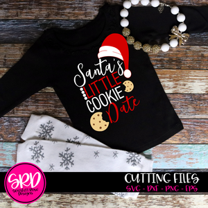 Santa's Little Cookie Date SVG