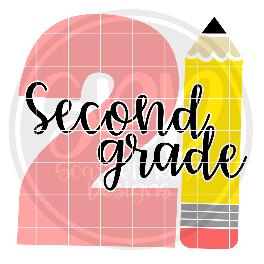 Second Grade 2 SVG -Pencil
