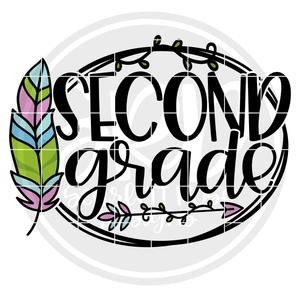 Second Grade - Feather SVG