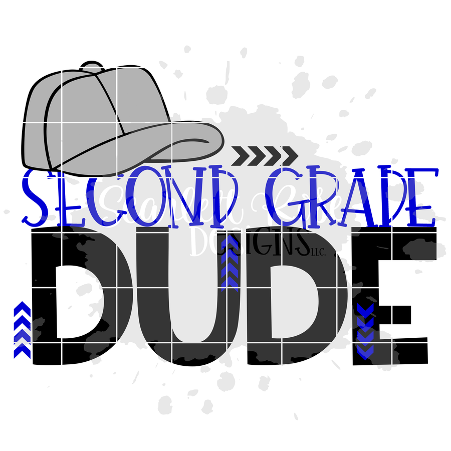Second Grade Dude SVG cut file