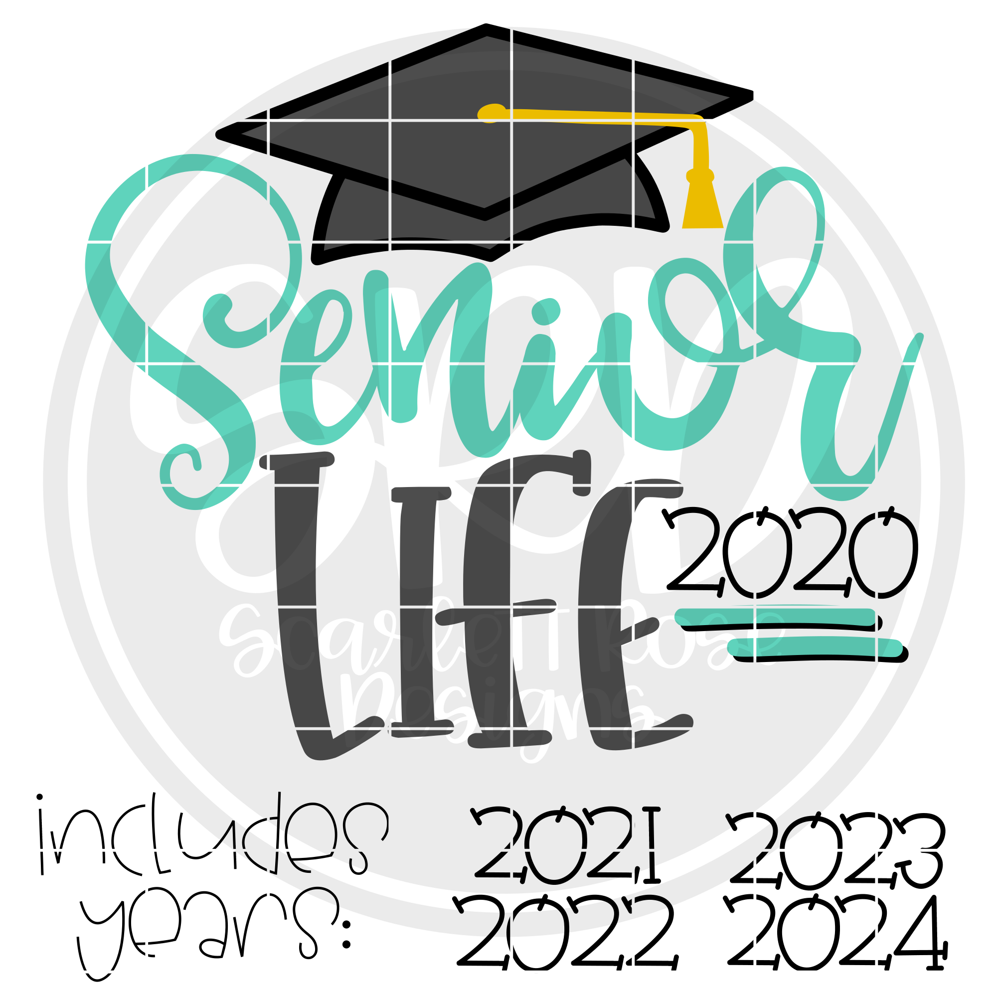 School Svg Senior Life 2020 Svg Graduation Cap Svg Cut File Scarlett Rose Designs