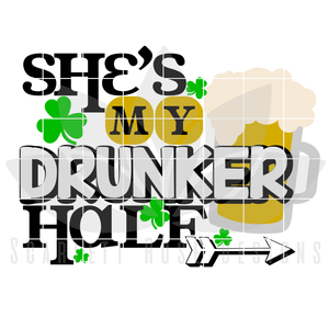 Matching His and Hers, My Drunker Half SVG