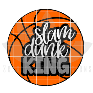 Basketball SVG, Slam Dunk King SVG, DXF, PNG