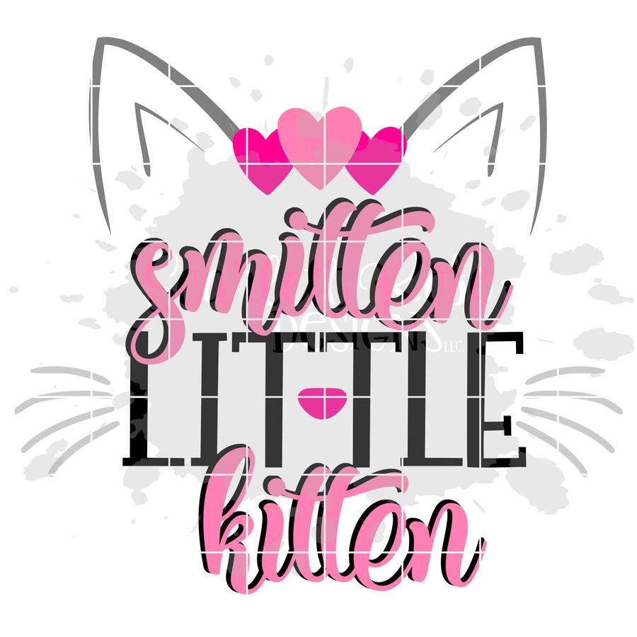 Smitten Little Kitten - Hearts SVG