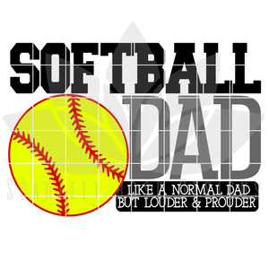 Softball Dad - Mom SVG SET