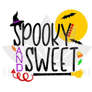 Halloween SVG, Spooky and Sweet Halloween cut files