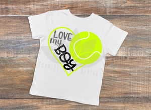 Tennis Heart SVG, Tennis Mom, Love my Boy cut file