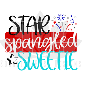 Star Spangled Sweetie SVG