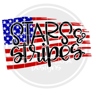 Stars & Stripes - Color Flag SVG
