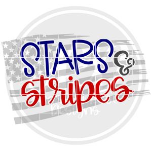Stars & Stripes - Grey Flag SVG
