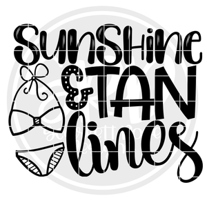 Sunshine & Tan Lines SVG