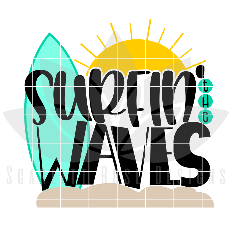 Surfin' the Waves SVG