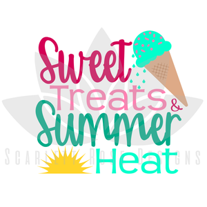 Summer Beach SVG cut file, Ice Cream, Sweet Treats and Summer Heat SVG, EPS, PNG
