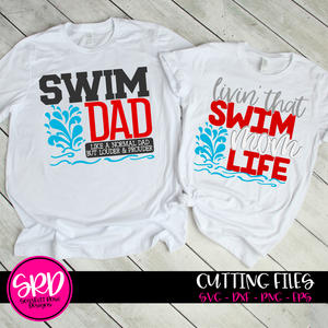 Swim Dad - Swim Mom SVG SET