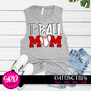 T-ball Mom SVG - Baseball SVG