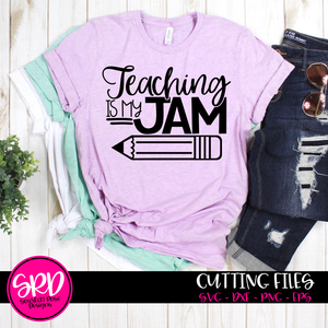 Teaching is my Jam SVG - Black Pencil