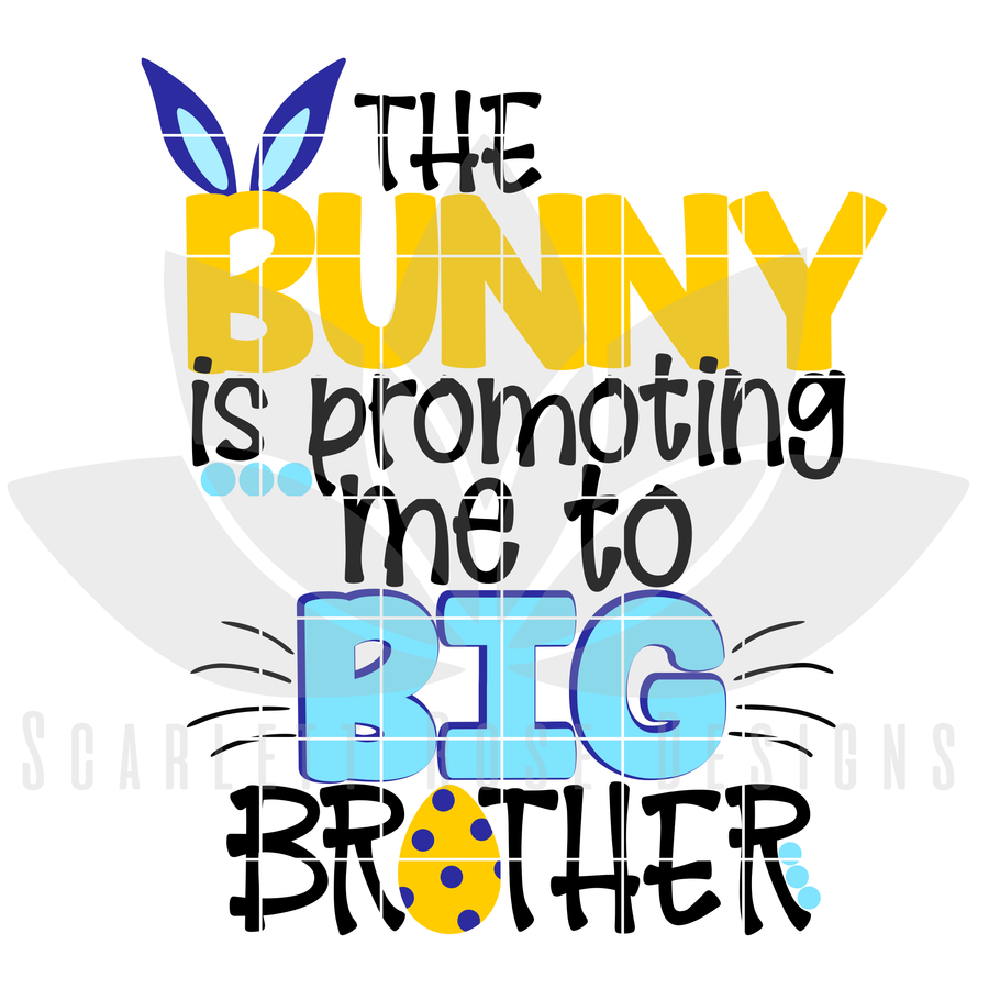 Easter SVG, The Bunny is promoting me to Big Brother cut file