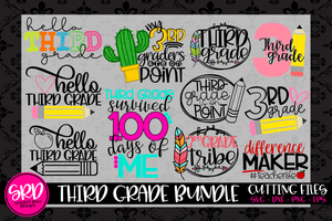The Third Grade SVG Bundle