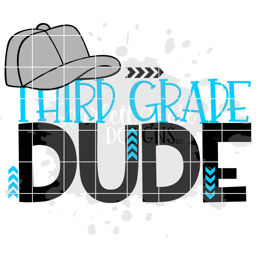 Third Grade Dude SVG cut file