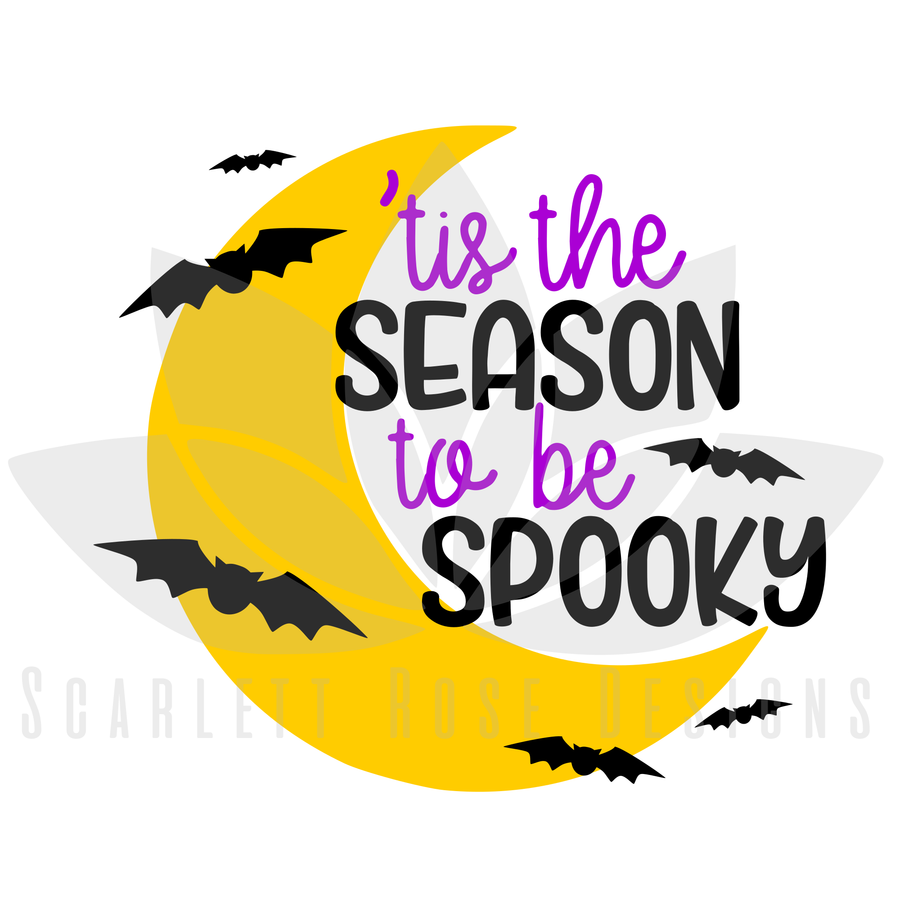 Halloween SVG, Tis the Season to be Spooky, Big Moon Halloween cut files
