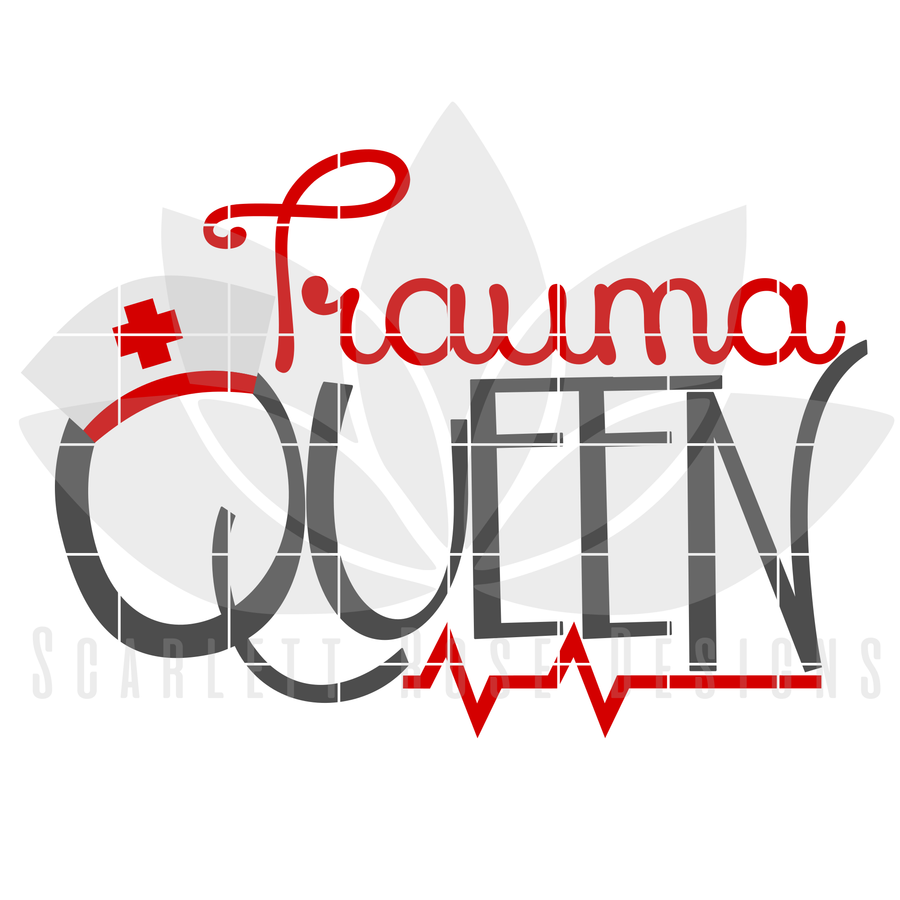 Trauma Queen SVG