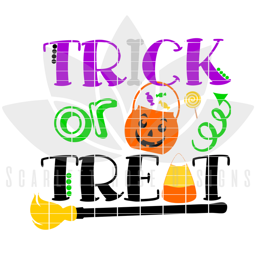Halloween SVG, Trick or Treat, Pumpkin cut file