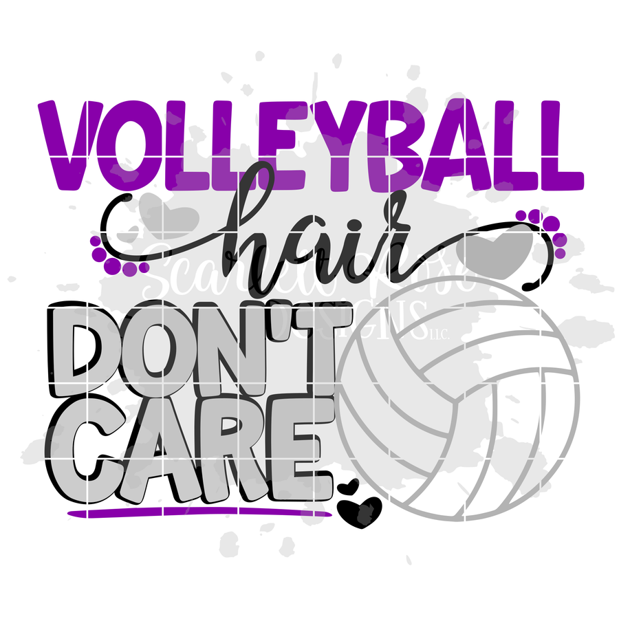 Volleyball Hair Don't Care- Volleyball SVG