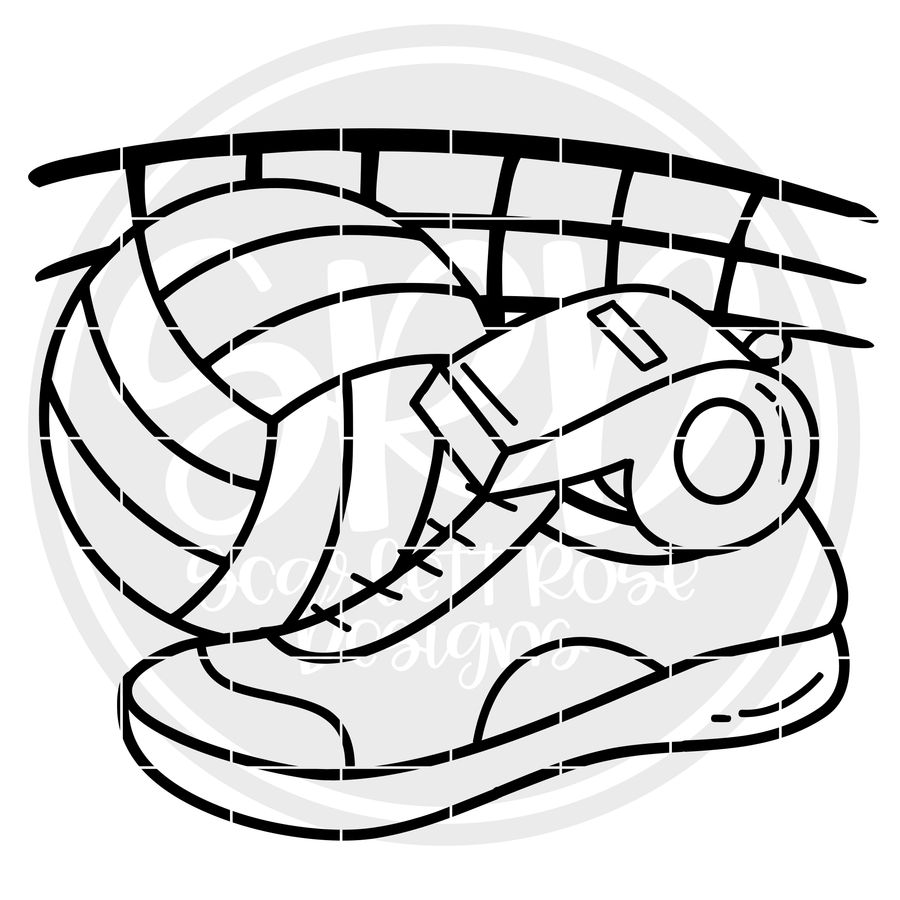 Volleyball Gear SVG - Black