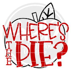 Where's the Pie - Apple Outline SVG