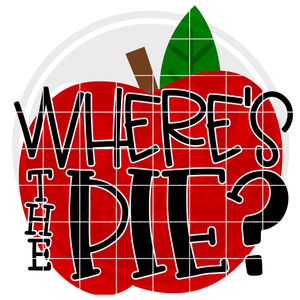 Where's the Pie - Apple SVG