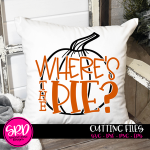 Where's the Pie - Pumpkin Outline SVG
