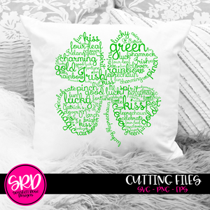 Clover Word Cloud Art SVG
