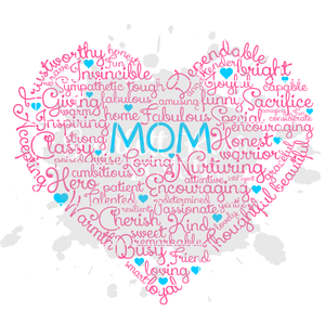 Mom Word Art SVG