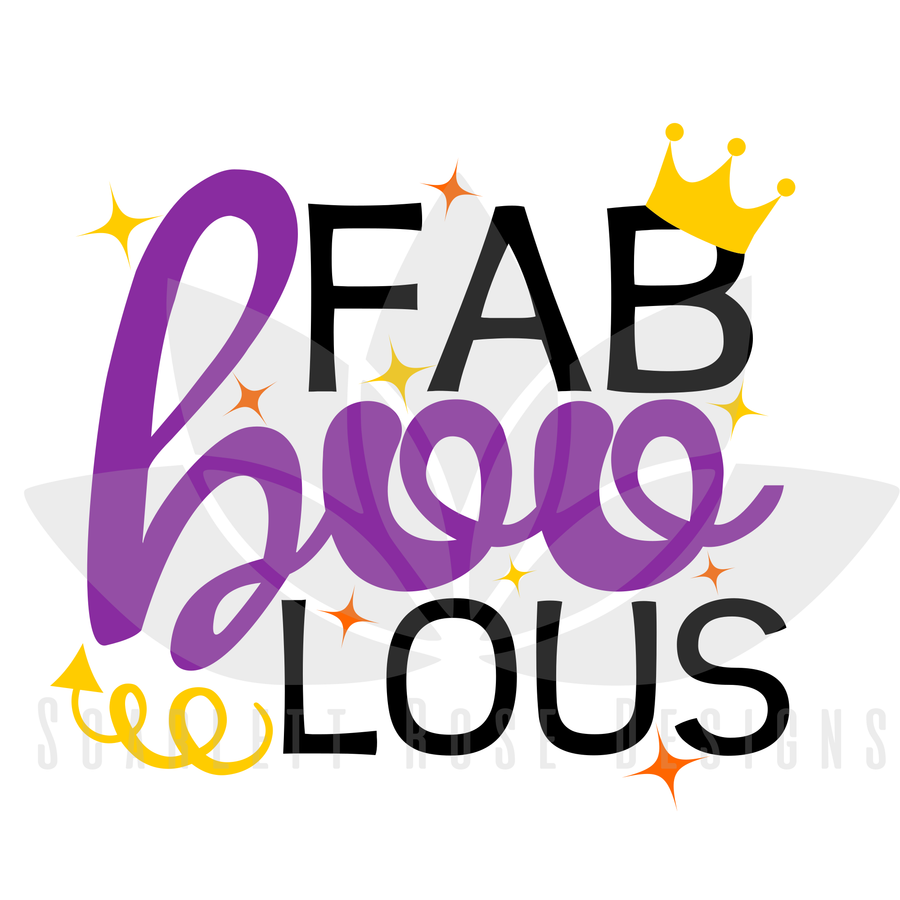 Halloween SVG, Fab Boo Lous, shirt design cut file