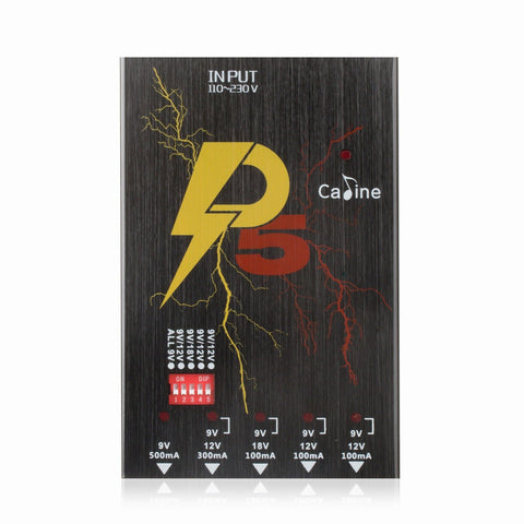 Caline P5 Isolated Power Supply 5 Output DC9V 12V 18V Effect Pedals with Short Circuit Protection - GuitarPusher