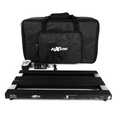 "BoxKing Rechargeable Pedalboard w/ Gig Bag & Accessories (25600mAh, 20 output) 18.8"" x 11"" - GuitarPusher"