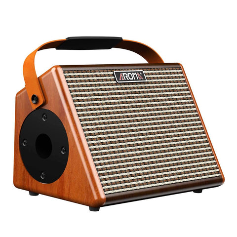 Aroma AG-26A 25W Portable Acoustic Guitar Amplifier with Built-in Rechargeable Battery and Bluetooth