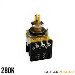 Bareknuckle CTS Custom Audio Taper Push-Pull 3/8 Tall US Bushing 24 Fine Spline Split Shaft Potentiometer