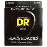 DR Black Beauties Coated Electric Guitar Standard Strings - GuitarPusher