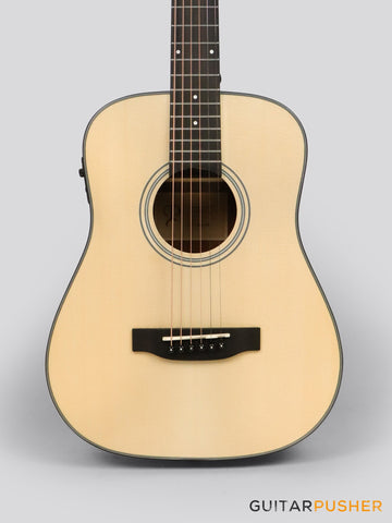 Phoebus Baby-30E v3 3/4 Dreadnought (3rd Gen.) Travel Acoustic-Electric Guitar (Spruce) w/ Gig Bag - GuitarPusher
