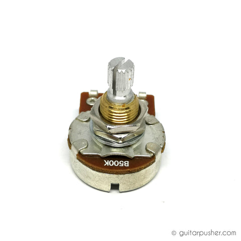 Bourns 500k Linear Taper Potentiometer 3/8 Tall Bushing US Size 18 Spline Split Shaft Low Torque