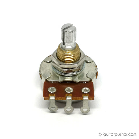 Bourns Pro Audio Long Life Audio Taper Potentiometer 3/8 Split Shaft - 1Mega Ohms