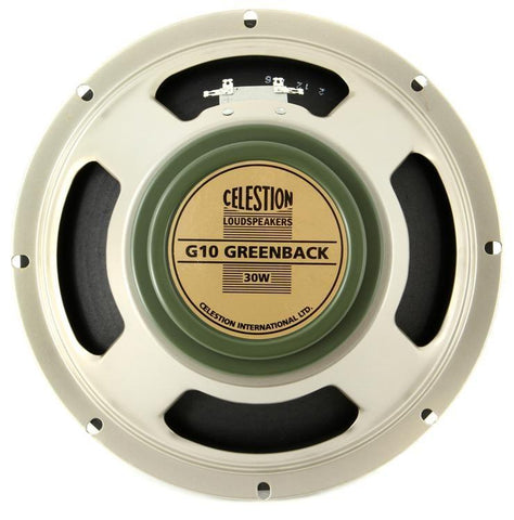 "Celestion G10 Greenback 30-Watt 10"" Guitar Speaker Made in UK - GuitarPusher"
