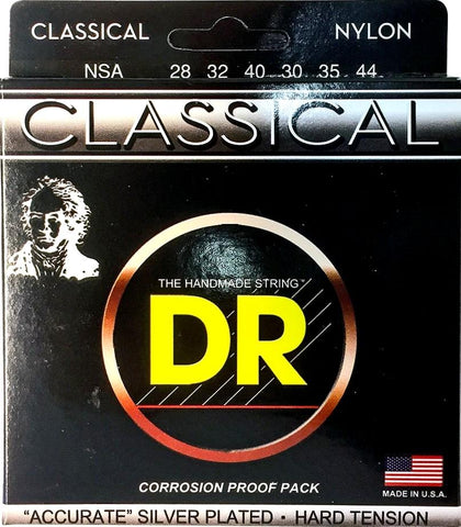 DR Nylon-Silver Plated Classical Guitar Strings