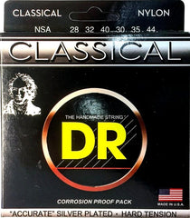 DR Nylon-Silver Plated Classical Guitar Strings - GuitarPusher