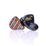 Flipears Aim PRO Quad Driver In-Ear Monitor (IEM) Earphones - Universal Fit - Guitar Wood / Black
