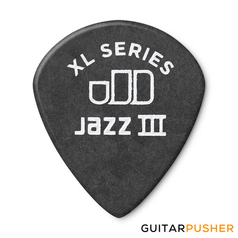 Dunlop Tortex Jazz III XL Guitar Pick 498R 1.35mm - Black