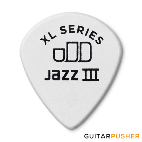 Dunlop Tortex Jazz III XL Guitar Pick 498R 1.50mm - White